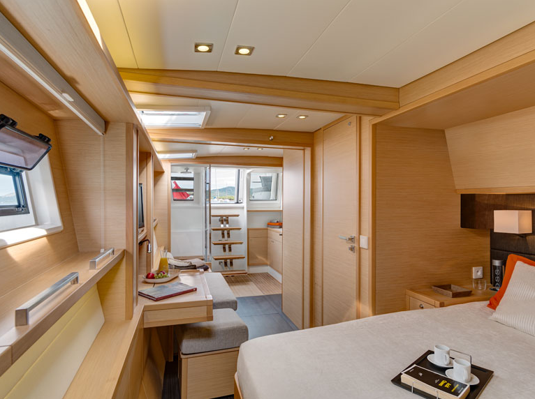 Enigma Luxury Crewed Sailing Catamaran Master Suite