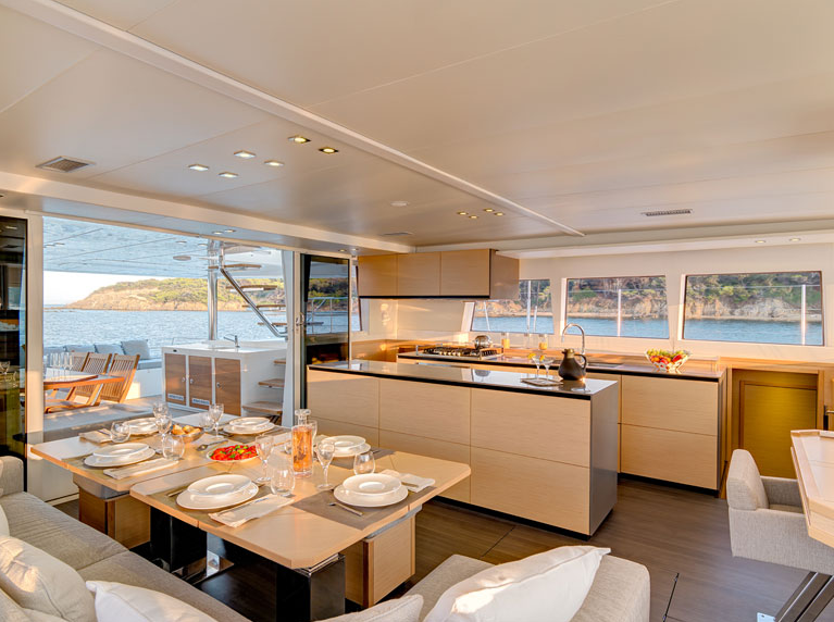 ENIGMA Luxury Crewed Sailing Catamaran Dining