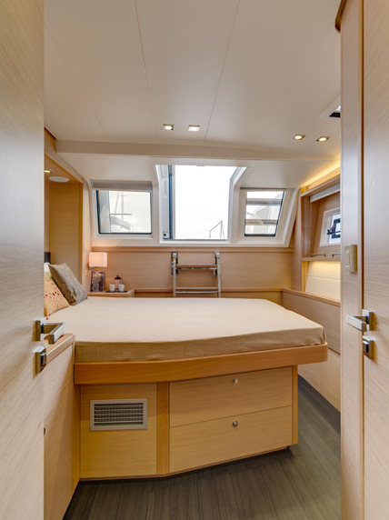 Enigma Luxury Crewed Sailing Catamaran Master Cabin